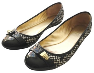 Coach Black, Tan Flats