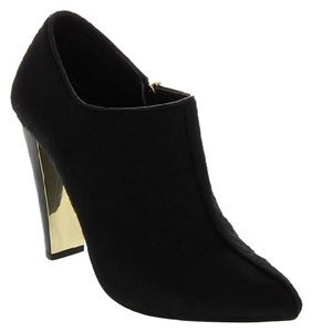 Joy & IMAN High Heel black calf hair Boots