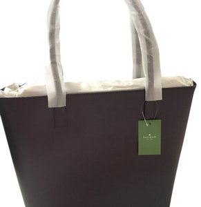 Kate Spade Leather Classic Professional Smooth Leather Tote in Mulled Wine