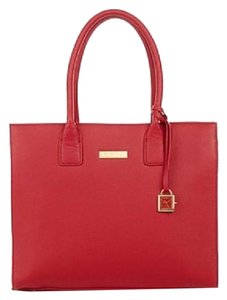 Joy & IMAN Leather Tote in Red