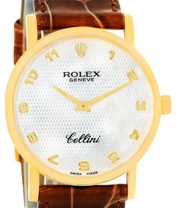 Rolex Rolex Cellini Classic 18K Yellow Gold Mother of Pearl Dial Watch 5115
