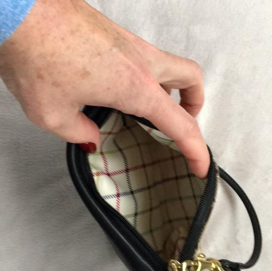 Coach Wristlet in Brown Taupe Cloth With Black Leather Image 6