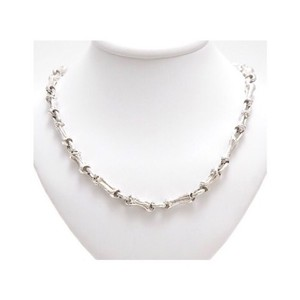 Tiffany & Co. Rare Sterling Silver Fragmented Bamboo Necklace