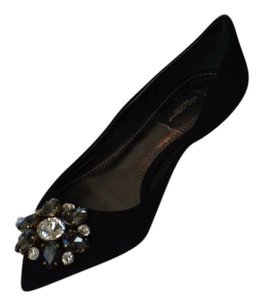 Dolce&Gabbana Dolce And Gabbana Crystal Embellished Heels Black Pumps