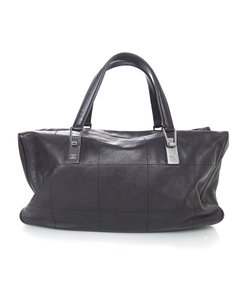 Chanel Square Quilted Ruthenium Tote in Black