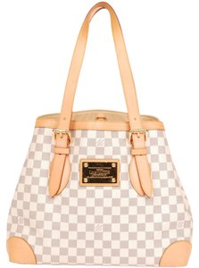 Louis Vuitton Damier Canvas Azur Hampstead Mm Tote in Damier Azur