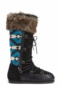 JustFab Brown and blue Boots