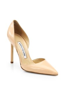 Manolo Blahnik Louboutin Pigalle Bb So Kate Nude Flesh Pumps