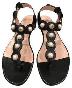Gucci Willow Pearl Thong Flat black Sandals