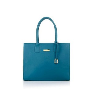 Joy & IMAN & Designer Leather Large Tote in Teal