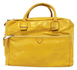 Marc Jacobs Dust Two Way Zip Leather Satchel in Yellow