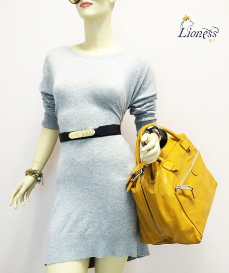 Marc Jacobs Dust Two Way Zip Leather Satchel in Yellow Image 1