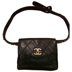 Chanel authentic Chanel leather waist pouch bag