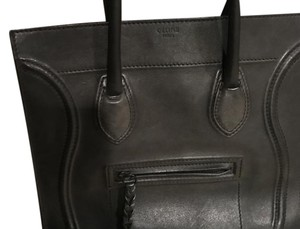 Céline Celine Phantom Leather Tote in Black