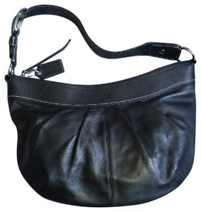 Coach Soho Pleated Leather Hobo Legacy Shoulder Bag