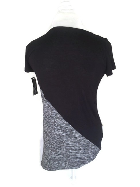 INC International Concepts Scoop Cap Sleeve Top Black/Grey Image 1
