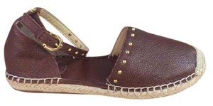 C. Wonder Espadrille Leather Brown Flats