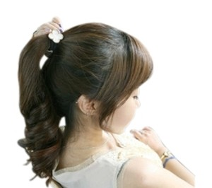 Shiekh 2 White & blue or black Clover Leaf Headband
