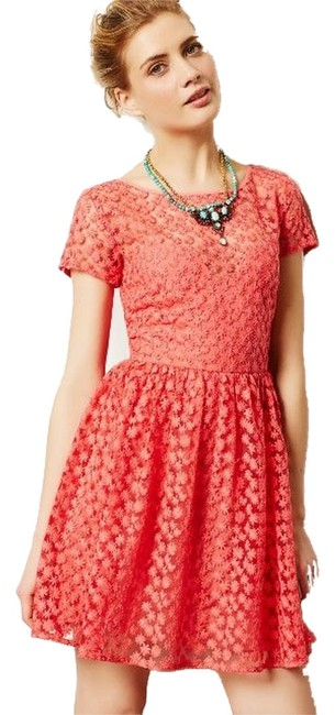 Preload https://item4.tradesy.com/images/nicole-miller-coral-4130295950040-knee-length-workoffice-dress-size-8-m-2050218-0-0.jpg?width=400&height=650