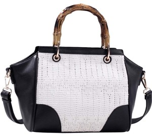 Other Classic Large Handbags The Treasured Hippie Vintage Satchel in Black/White