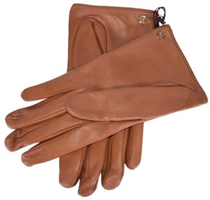 Gucci Gucci Women's Brown Nappa Leather Interlocking GG Gloves Size 7 Medium