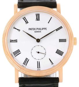 Patek Philippe Patek Philippe Calatrava 18k Rose Gold White Dial Watch 5119R