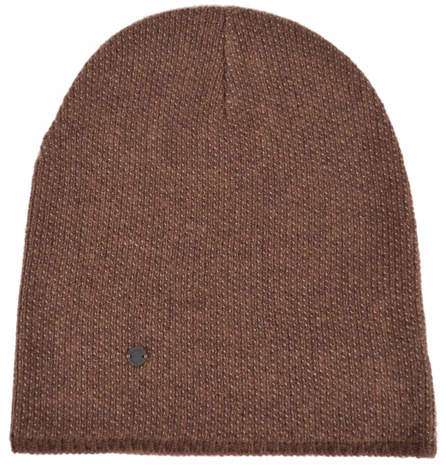Gucci Gucci 352350 Men s Brown Beige Wool Cashmere Beanie Ski Winter Hat L  ... 26bfdbf5fd4