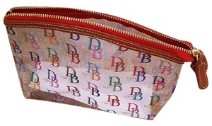Dooney & Bourke Dooney & Burke Clear Multi Color Logo Cosmetic Bag