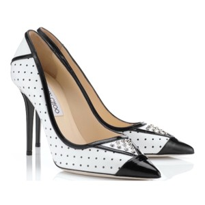 Jimmy Choo Black and White Pumps
