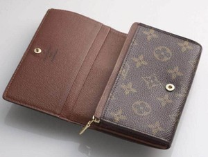 Louis Vuitton Classic Monogram Canvas Billets Tresor Wallet