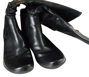 Hush Puppies Slouch Leather Comfortable black Boots