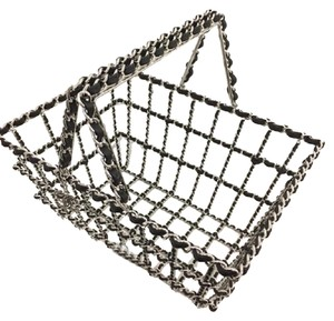 Chanel Exclusive Basket Grocery Runway Tote in Silver, Black