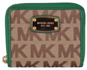 Michael Kors NWT Michael Kors Signature Jacquard Zip Around Wallet