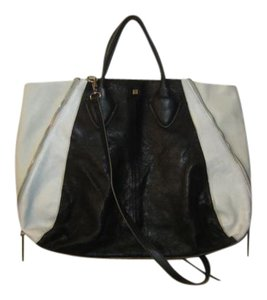 Pour La Victoire Yves Yves Medium Yves Black Plv Tote in Black White