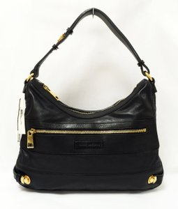Marc Jacobs Sofi Leather Pushlock Decor Hobo Bag