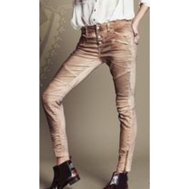 Item - Taupe Distressed Moto Skinny Jeans Size 29 (6, M)