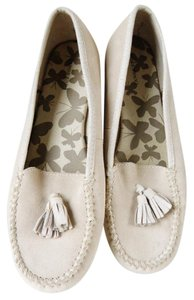 Lands' End Tassels Suede Comfortable Classic beige Flats