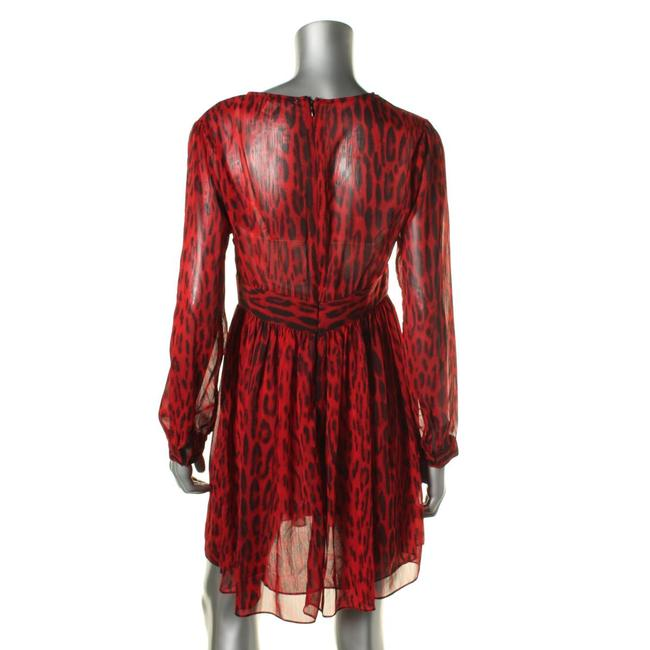MICHAEL Michael Kors short dress Red/Black Print V-neck Longsleeve on Tradesy Image 3
