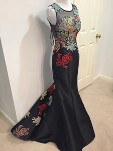 Jovani Beaded Floral Mermaid Dress