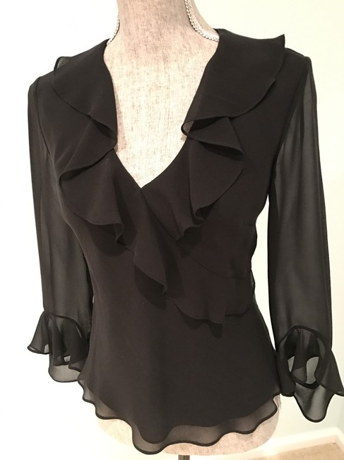 Ralph Lauren Tops Silk Silk Tops Size Small Top Black Image 1