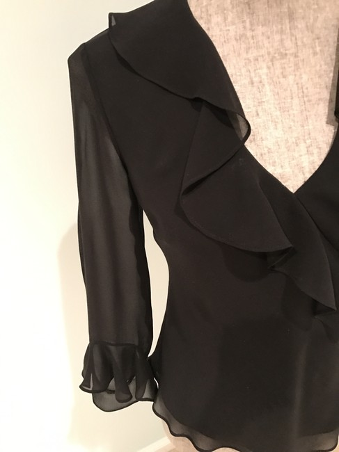 Ralph Lauren Tops Silk Silk Tops Size Small Top Black Image 4