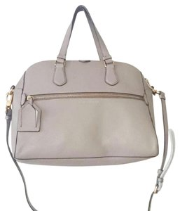 Marc by Marc Jacobs Ivory Crossbody Gold Leather Satchel in Cement