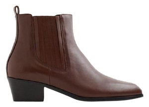 J.Crew Chelsea Leather Brown Boots