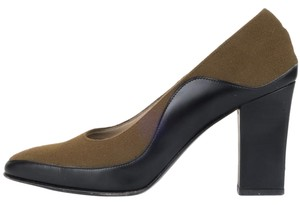 Salvatore Ferragamo Olive & Black Pumps