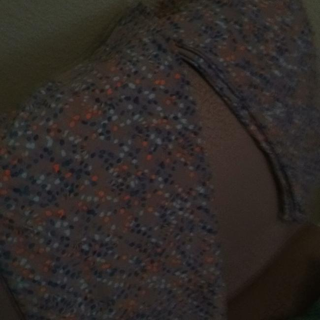 Item - Grey Background with Blue and Orange Apecks Tall Curvy Leggings Size 14 (L, 34)
