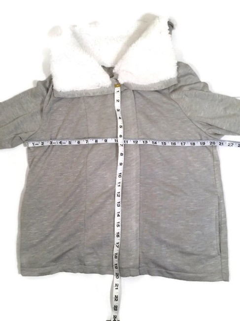 INC International Concepts Faux Fur Xl Womens Heather Grey Jacket Image 2