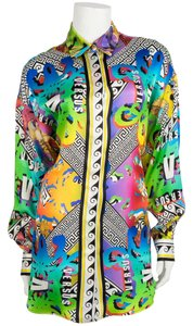 Versus Versace Button Down Shirt Multi Color