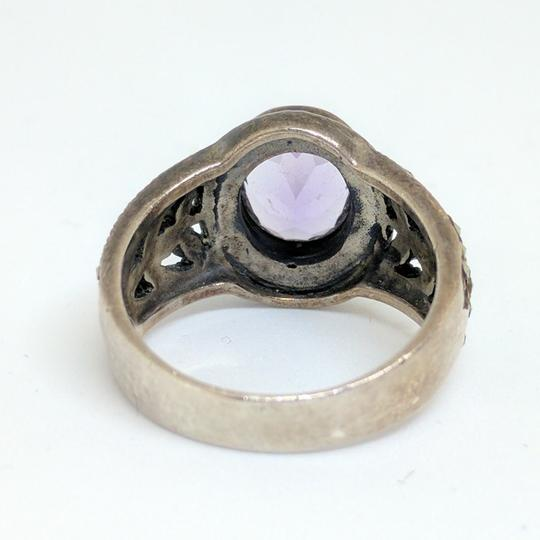 DeWitt's Sterling Silver Ring 6.7 grams Size 7 3/4 1 Purple Stone Image 2