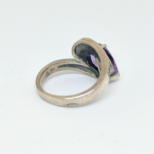DeWitt's Sterling Silver Ring 6.1 grams Size 7 1/2 1 Purple Stone Image 2