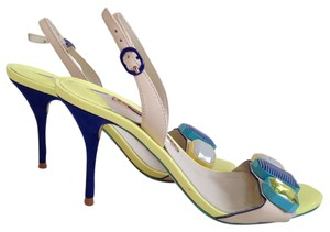Sophia Webster Jemima Jeweled Suede Slingback Yellow Sandals